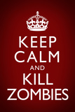 Keep Calm and Kill Zombies Red Plastic Sign Plastic Sign