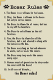 Boxer House Rules Humor Plastic Sign Plastic Sign