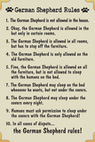 German Shepherd House Rules Humor Plastic Sign Plastic Sign