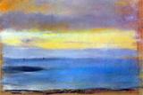 Edgar Degas Coastal Strip at Sunset Plastic Sign Plastskilt av Edgar Degas