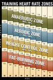 Training Heart Rate Zones Chart (Modern) Plastic Sign Plastic Sign