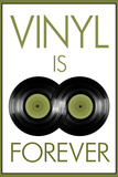 Vinyl is Forever Music Plastic Sign Wall Sign