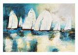 Velero Azul Kunstdruck von Nancy Villarreal Santos