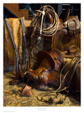 Rancher's Tack Room Poster by Robert Dawson