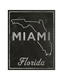Miami, Florida Posters by John W. Golden