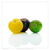 Black Prince Garden Peach Green Zebra Tomatoes Posters by David Wagner