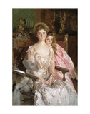 Mrs. Fiske Warren (Gretchen Osgood) and Her Daughter Rachel, 1903 Art by John Singer Sargent
