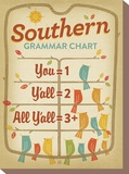 Southern Grammar Stretched Canvas Print by  Anderson Design Group