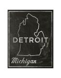 Detroit, Michigan Poster by John W. Golden