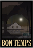 Bon Temps Retro Travel Poster Affiches