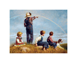Follow the Rainbow Giclee Print by Jim Daly