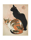 Two Cats, 1894 Art by Théophile Alexandre Steinlen