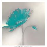 Aqua Platinum Petals I Posters by J.P. Prior