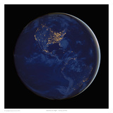 Americas At Night Print