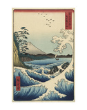 The Sea off Satta in Suruga Province (Suruga Satta kaij), 1858 Posters by Utagawa Hiroshige I