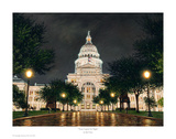 Texas Capitol at Night Prints by Rod Chase