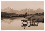 River Crossing II Sepia Posters par Robert Dawson