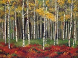 Aspen Forest Art by Miro Kenarov