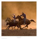Roping on the Ranch II Art par Robert Dawson