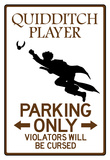 Quidditch Player Parking Sign Poster Póster