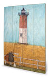 Sam Toft - Feeling the Love at Nauset Light Wood Sign Holzschild