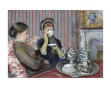The Tea, about 1880 Print by Mary Cassatt