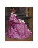 Le Domino Rose, about 1895 Art by John Humphreys Johnston