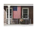 Amerikanische Flagge Giclée-Druck von Zhen-Huan Lu
