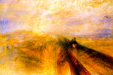 Joseph Mallord Turner Rain Steam and Speed the Great Western Railway Poster Posters by J. M. W. Turner