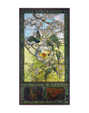 Parakeets and Gold Fish Bowl, about 1893 Posters by Louis Comfort Tiffany