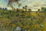 Vincent Van Gogh Sunset at Montmajour Poster Prints by Vincent van Gogh
