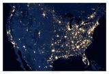 US at Night Prints