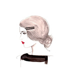 The Girl Who Loved Vintage Giclee Print by Jessica Durrant