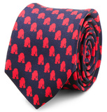 Star Wars - R2D2 Navy and Red Skinny Tie Novelty