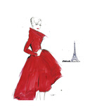 Dior and Paris Giclee Print by Jessica Durrant