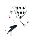 Polka Dot Glam Giclee Print by Jessica Durrant