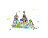A Little Slice of Russia Giclee Print by Jessica Durrant
