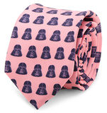 Star Wars - Darth Vader Pink and Navy Skinny Tie Novelty