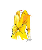 The Yellow Trench Giclee Print by Jessica Durrant