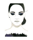 Smokey Eye Girl Giclee Print by Jessica Durrant