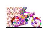 Bike Rider Giclee Print by Teofilo Olivieri