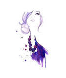 Floating Beads Giclee Print by Jessica Durrant