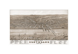 Bird's Eye View of Cleveland, Ohio, 1877 Giclee Print by A. Ruger