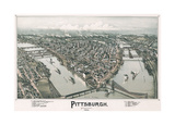 Pittsburgh, Pennsylvania, 1902 Giclee Print by T.M. Fowler
