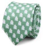 Star Wars - Yoda Green and Grey Skinny Tie Novelty