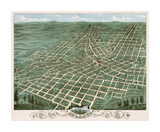 Bird's Eye View of the City of Atlanta, Georgia, 1871 Giclee Print by A. Ruger