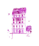 XOXO Pink Paris Reproduction procédé giclée par Jessica Durrant