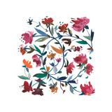 Nouveau Boheme - Folk Art Series No. 1 Giclee Print by Kiana Mosley