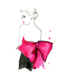 Pink Bow Giclee Print by Jessica Durrant