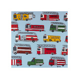 Fire Trucks Wydruk giclee autor Brian Nash